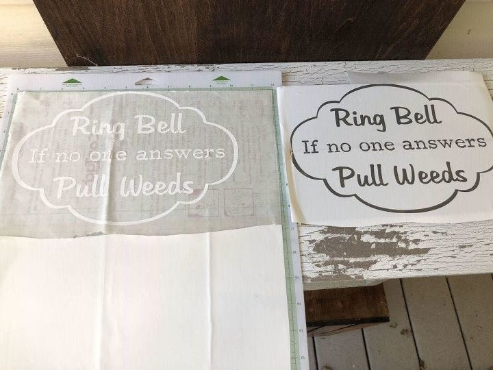 Ring Bell - If No One Answers - Pull Weeds - Front Door Sign