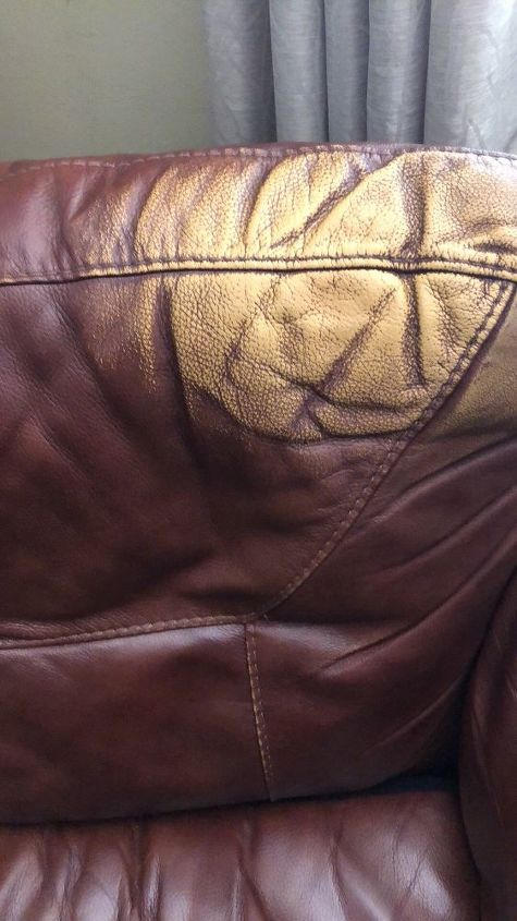 Q How To Re Color Leather Sofa That Is Worn In Parts