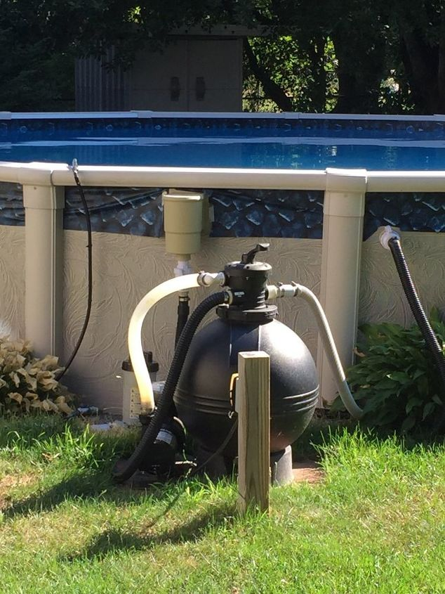 q i need a creative idea to cover our pool filter and hoses
