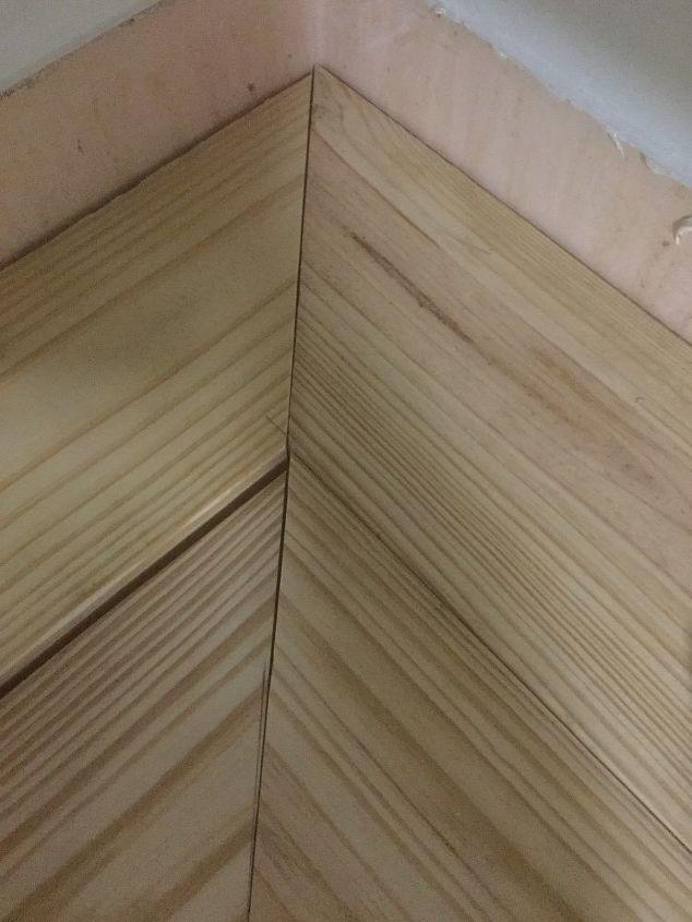 q butcher block counter top not matching up in corner cuts