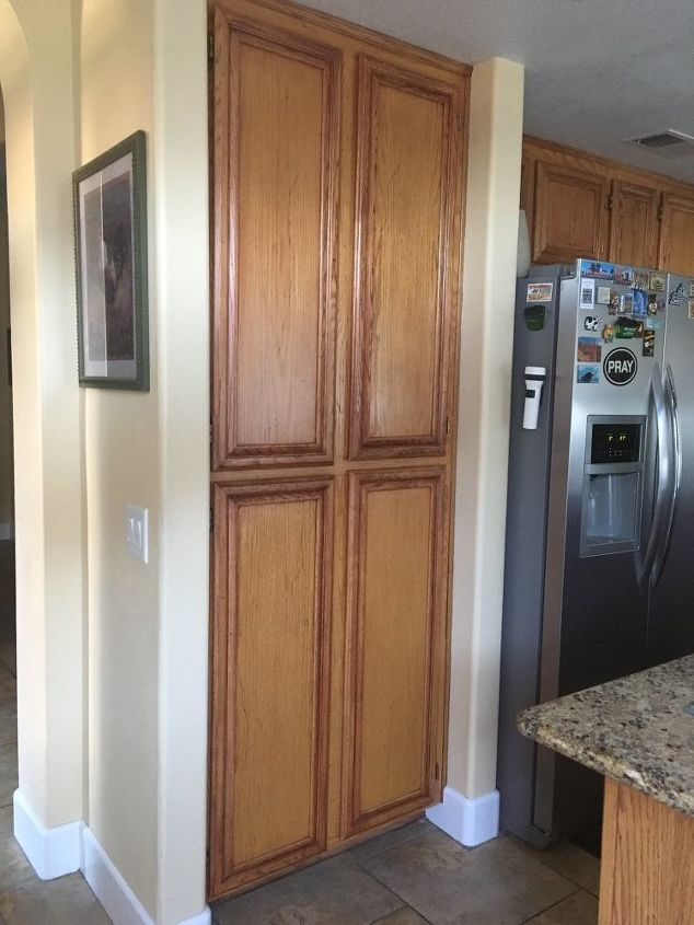 q i want to take this cabinet out and make it into a pantry