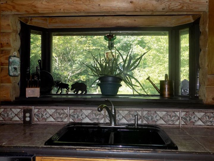 q how to fix multi level bay window area countertop