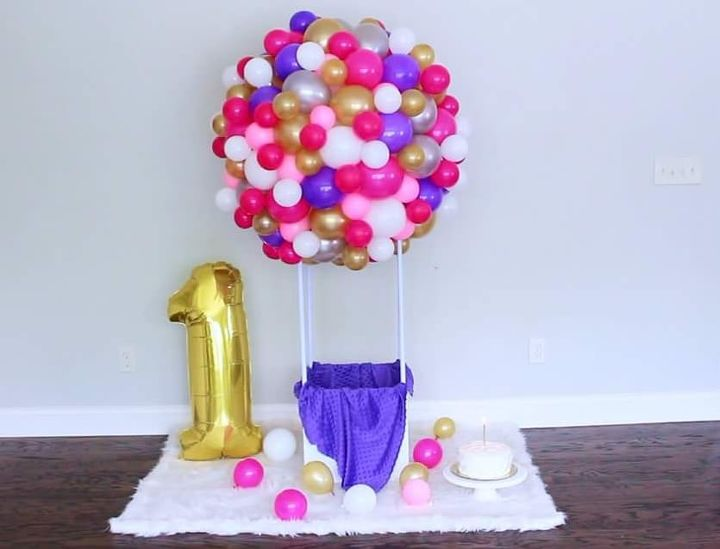 diy organic hot air balloon sculpture decor
