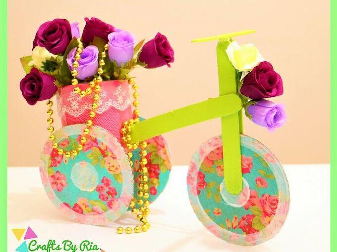 diy trike with popsicle sticks and cardboard beautiful home decor idea