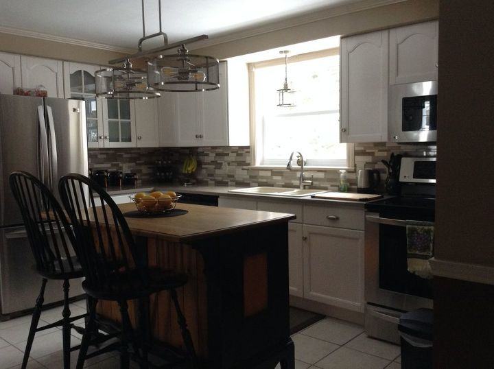 q i ve recently painted my oak kitchen cabinets white i have an island