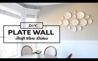 diy decorative plate wall thrifting