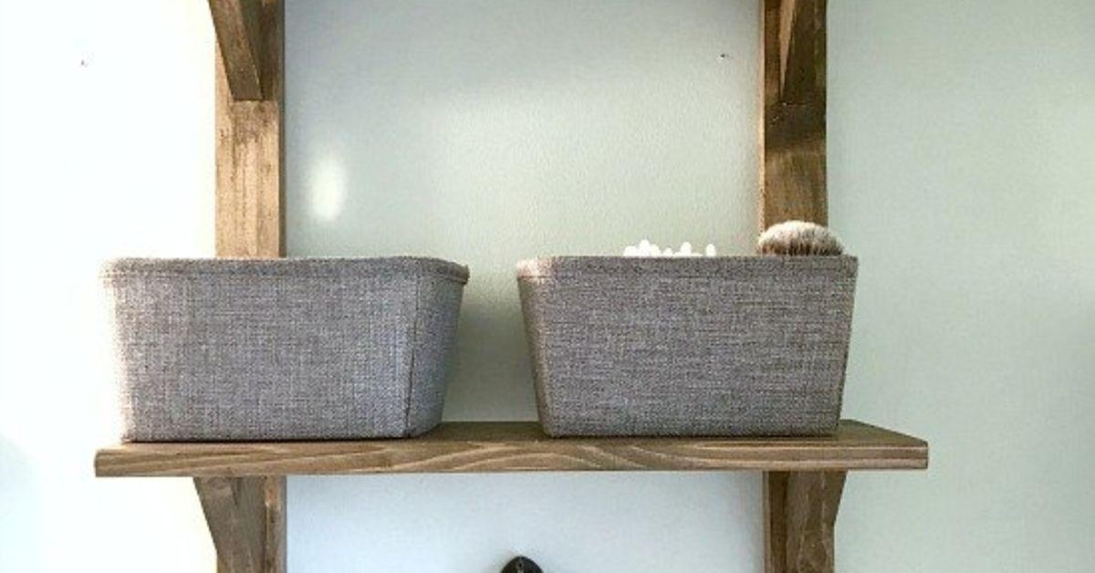 DIY Reclaimed Wood Bathroom Shelves | Hometalk