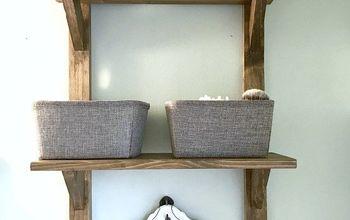 DIY Reclaimed Wood Bathroom Shelves