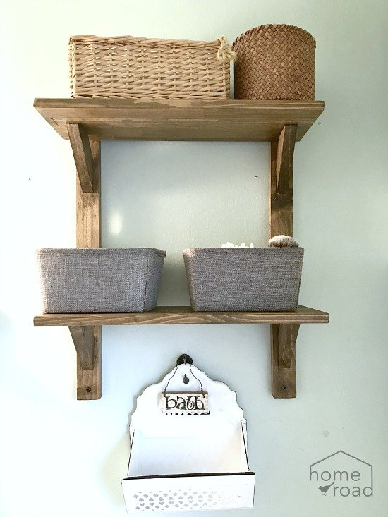 DIY Reclaimed Wood Bathroom Shelves | Hometalk
