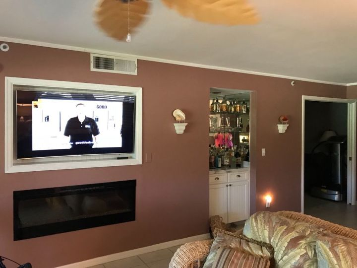 q ideas for fireplace tv wall