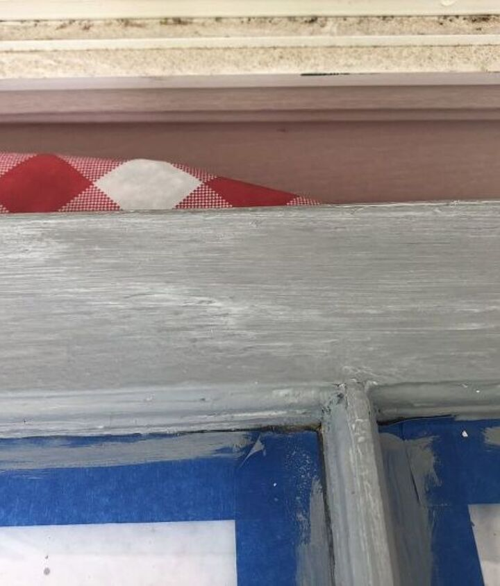 old windows as decor distressed cheater method