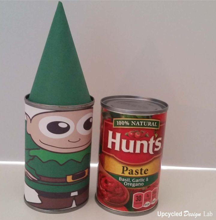s 15 things to do with scrap material, Tin Can Christmas Nesting Dolls