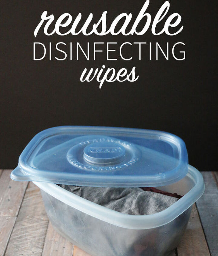 s 14 diy hacks to stay clean while camping, Easy Reusable Disinfecting Wipes