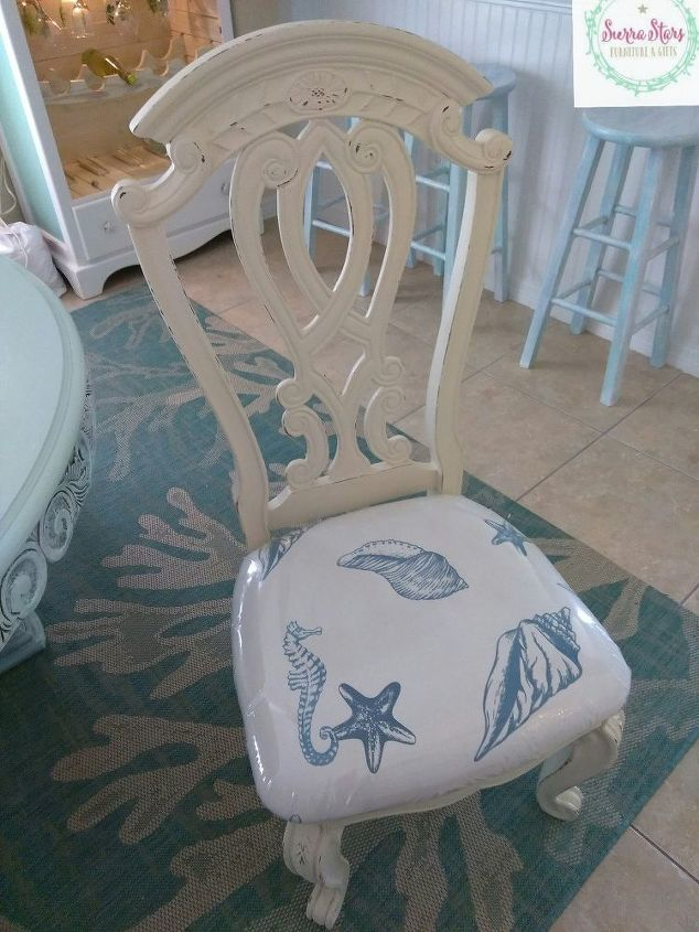 s 14 cool ways to upholster chairs, Shower Curtain To The Rescue