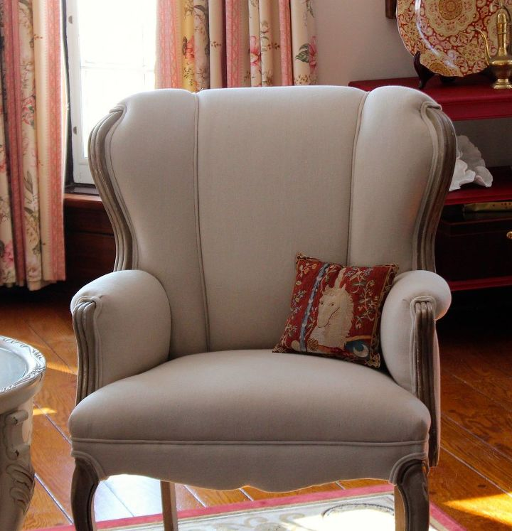 s 14 cool ways to upholster chairs, Try A Drop Cloth