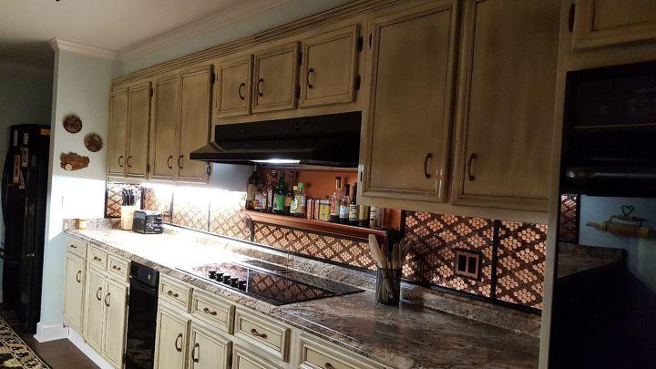 s 17 diy inspiring kitchen backsplashes, Penny Backsplash