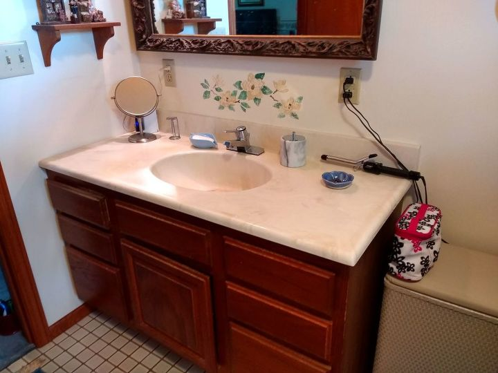 q i want to update our master bath the vanity top must be replaced but
