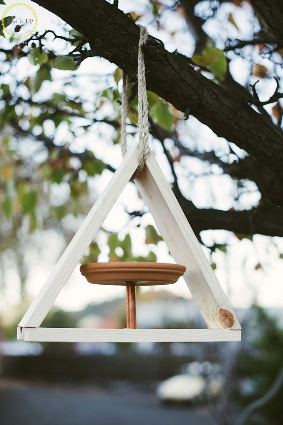 s 18 adorable bird feeders you ll want to make right now, Arrange pieces of woods