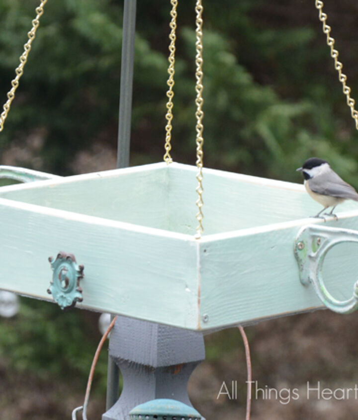 s 18 adorable bird feeders you ll want to make right now, Hang a wooden platform