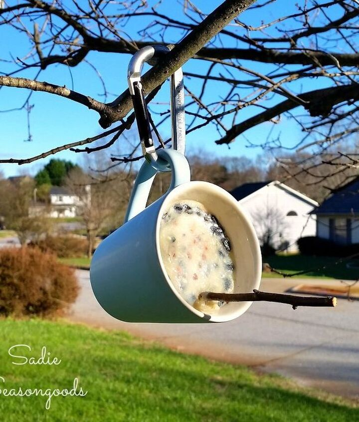 s 18 adorable bird feeders you ll want to make right now, Use a cheap mug