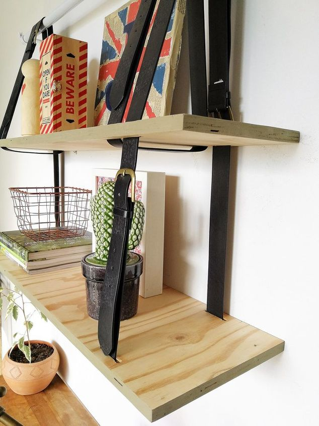 quick and easy hanging shelving