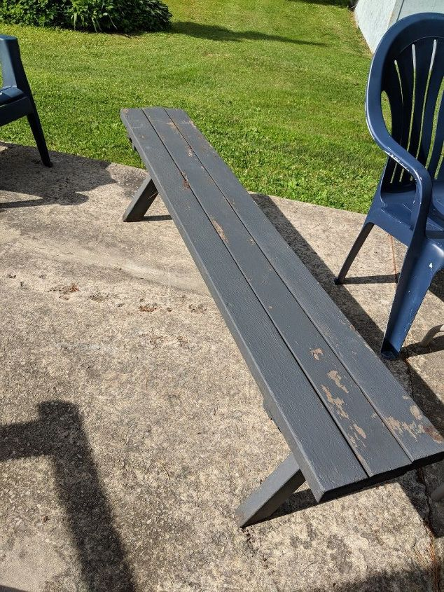 q what can i do to give this patio old bench new life