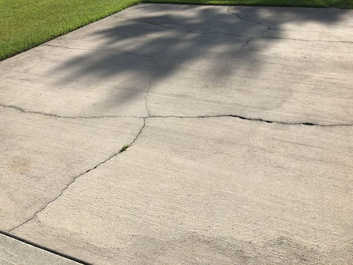 q can a cracked driveway be poured over or does it have to be chopped up