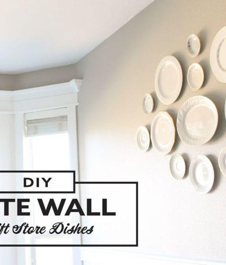 diy decorative plate wall thrifting