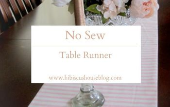 simple no sew table runner