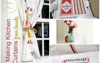 easy dish towel curtains
