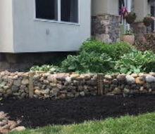 stone garden wall diy