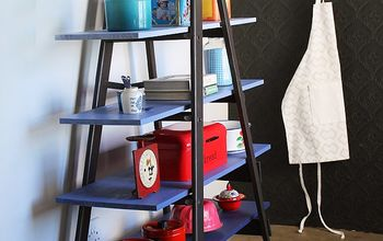 easy diy from ladder to super storage