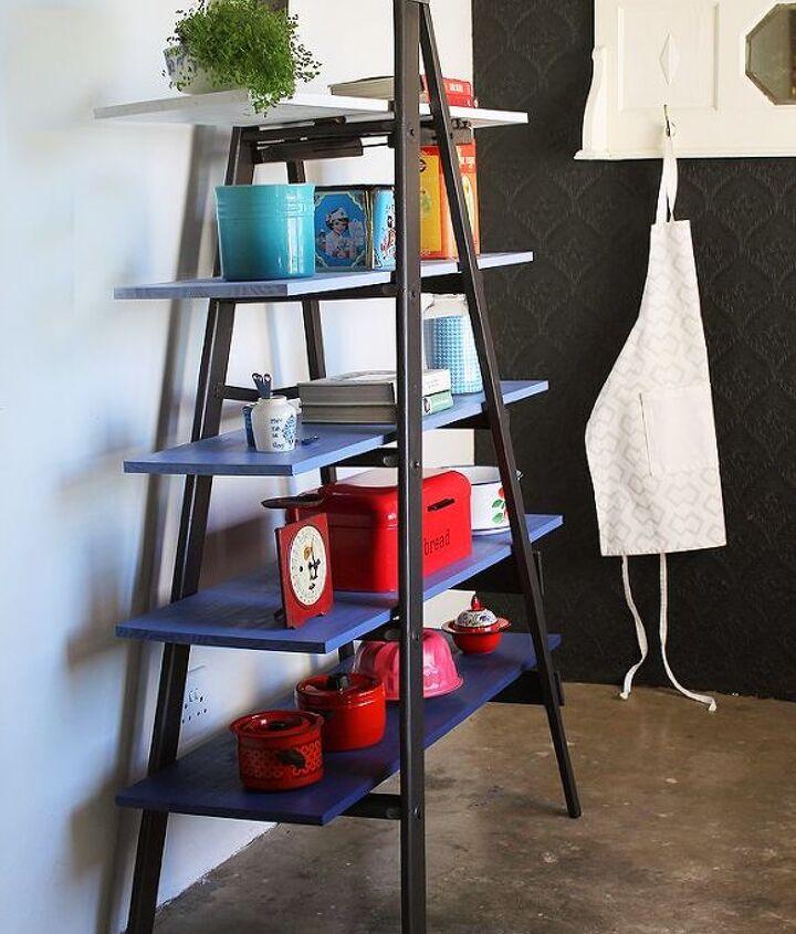 easy diy from ladder to super storage