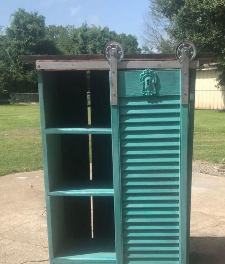 sliding shutter cabinet