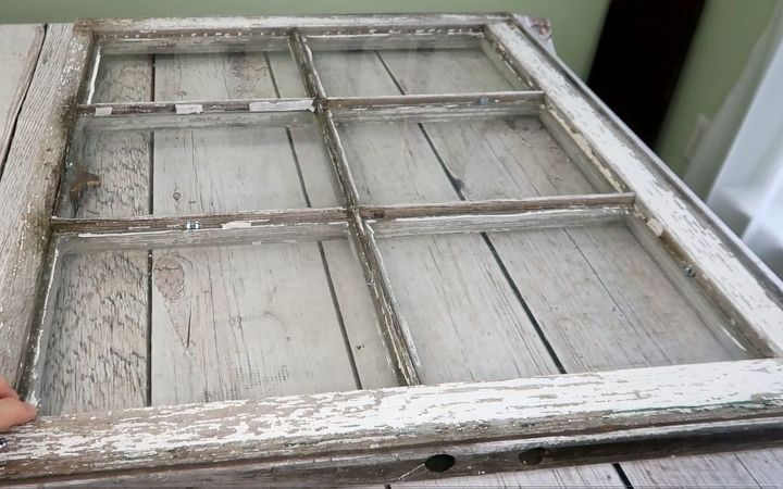 antiquing a faux mirror