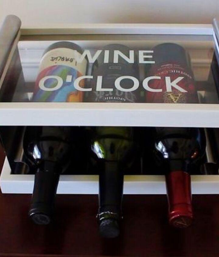 diy table top wine rack