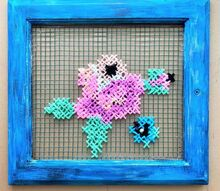window cross stitch art