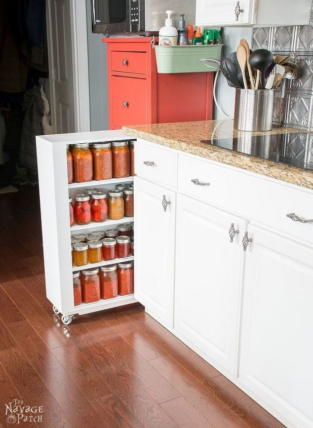 s these bloggers came up amazing organization ideas, Rolling Jar Storage