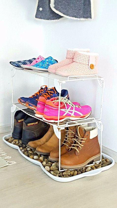 s these bloggers came up amazing organization ideas, DIY Shoe Storage