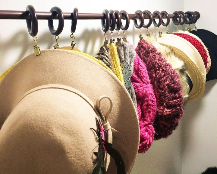 s these bloggers came up amazing organization ideas, Easy Hat Organization Trick