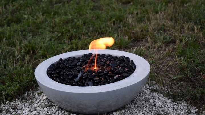 s 15 amazing ways to get your patio all ready for summer, Concrete Fire Bowl