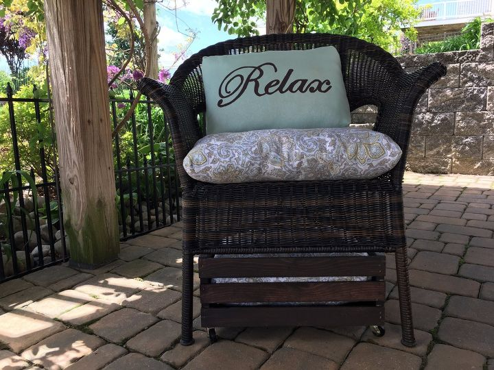 s 15 amazing ways to get your patio all ready for summer, Hidden Crate Ottoman