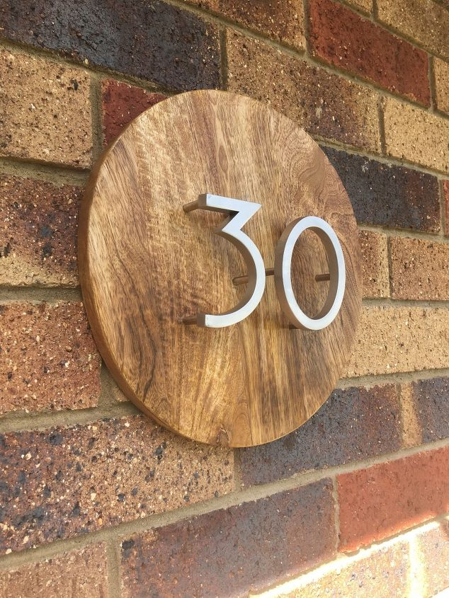 s 15 affordable diy projects you can do right now, Chopping Block House Number