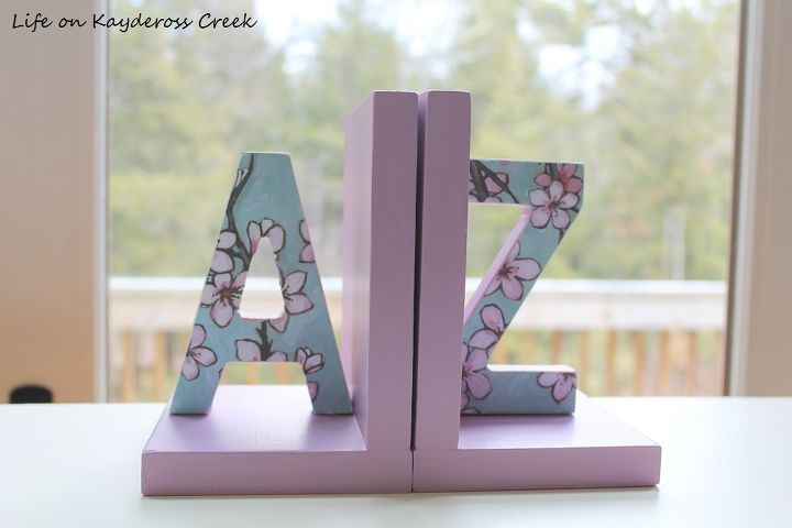 s 15 affordable diy projects you can do right now, Personalized Bookends