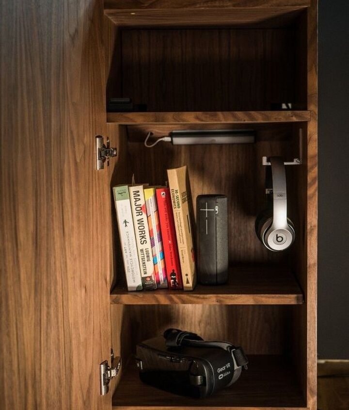 s 27 gorgeous update ideas for your bedroom, Build a smart bedside cabinet