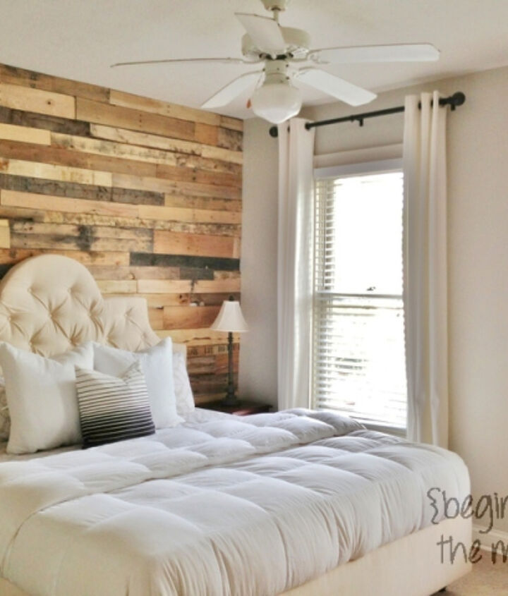 s 27 gorgeous update ideas for your bedroom, Or build an accent wall from pallets