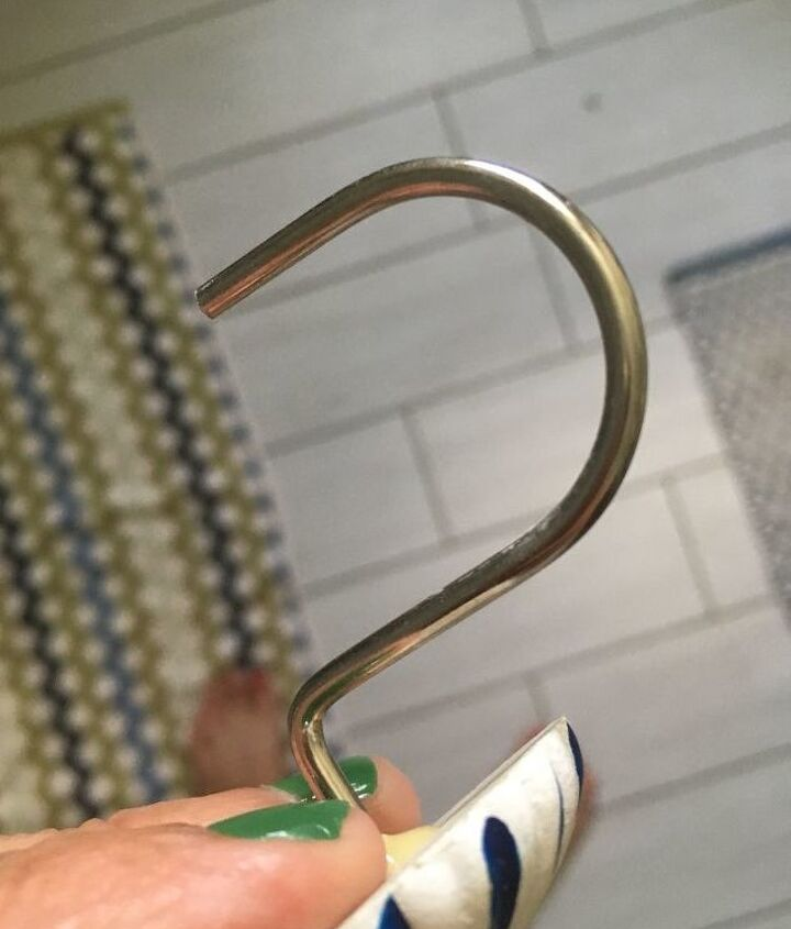 q keep fish hook type shower curtain hooks from constantly falling out