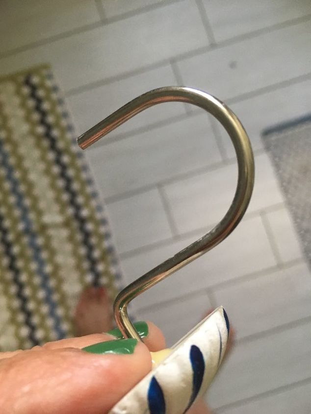 How to keep fish hook type shower curtain hooks from ...