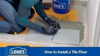 q tile a bathroom floor