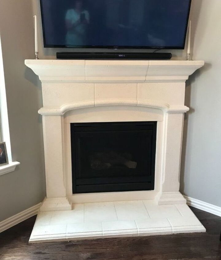 q modernize cast stone fireplace surround